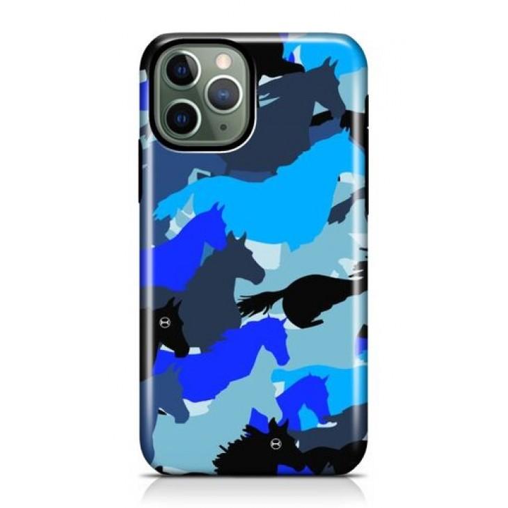 Funda para Iphone Azul Camuflada