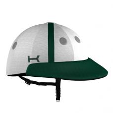Casco Blanco y Verde de Polo